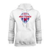 White Fleece Hoodie-Mustangs in Shield