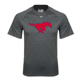 Under Armour Carbon Heather Tech Tee-Official Outlined Logo