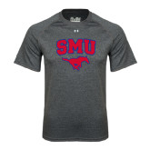 Under Armour Carbon Heather Tech Tee-SMU w/Mustang