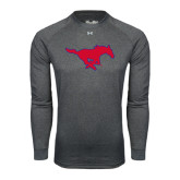 Under Armour Carbon Heather Long Sleeve Tech Tee-Official Outlined Logo
