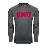 Under Armour Carbon Heather Long Sleeve Tech Tee-Block SMU
