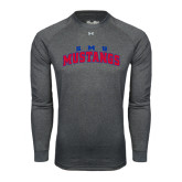 Under Armour Carbon Heather Long Sleeve Tech Tee-Arched SMU Mustangs
