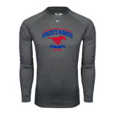 Under Armour Carbon Heather Long Sleeve Tech Tee-Arched Mustangs w/ Banner