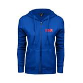 ENZA Ladies Royal Fleece Full Zip Hoodie-Block SMU