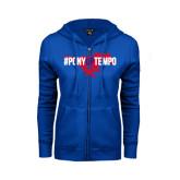 ENZA Ladies Royal Fleece Full Zip Hoodie-#PonyUpTempo Flat