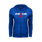 ENZA Ladies Royal Fleece Full Zip Hoodie-#PonyUpTempo Above Mustang
