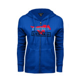 ENZA Ladies Royal Fleece Full Zip Hoodie-#PonyUpTempo Lock Arms