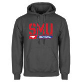 Charcoal Fleece Hoodie-SMU Basketball Stencil