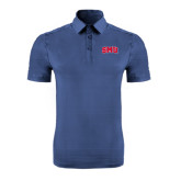Indigo Blue Horizontal Textured Polo-Block SMU