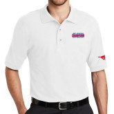 White Easycare Pique Polo-2017 AAC Regular Season Champions Mens Basketball Stacked