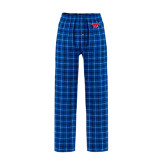 Royal/White Flannel Pajama Pant-Official Outlined Logo