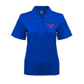 Ladies Easycare Royal Pique Polo-Official Outlined Logo