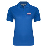 Ladies Easycare Royal Pique Polo-2017 American Athletic Conference Champions - SMU Mens Basketball