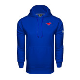 Under Armour Royal Performance Sweats Team Hoodie-Official Outlined Logo