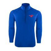 Sport Wick Stretch Royal 1/2 Zip Pullover-Official Outlined Logo