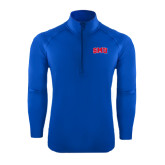 Sport Wick Stretch Royal 1/2 Zip Pullover-Block SMU