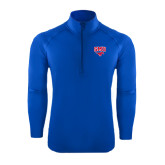 Sport Wick Stretch Royal 1/2 Zip Pullover-SMU w/Mustang