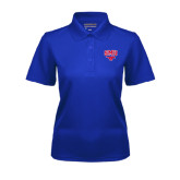 Ladies Royal Dry Mesh Polo-SMU w/Mustang
