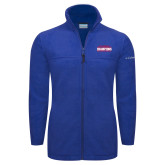 Columbia Full Zip Royal Fleece Jacket-2017 American Athletic Conference Champions - SMU Mens Basketball