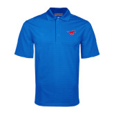 Royal Mini Stripe Polo-Official Outlined Logo