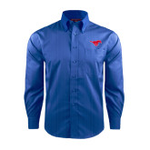 Red House French Blue Dobby Long Sleeve Shirt-Official Outlined Logo