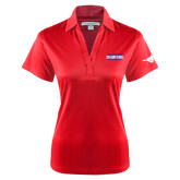 Ladies Red Performance Fine Jacquard Polo-2017 AAC Regular Season Champions Mens Basketball Stacked