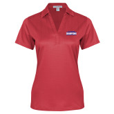 Ladies Red Performance Fine Jacquard Polo-2017 American Athletic Conference Champions - SMU Mens Basketball
