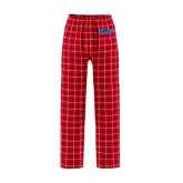 Red/Black Flannel Pajama Pant-Block SMU
