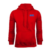 Red Fleece Hoodie-Block SMU