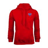 Red Fleece Hoodie-SMU w/Mustang