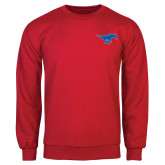 Red Fleece Crew-Official Outlined Logo
