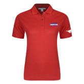 Ladies Easycare Red Pique Polo-2017 AAC Regular Season Champions Mens Basketball Stacked