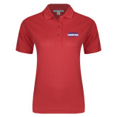 Ladies Easycare Red Pique Polo-2017 American Athletic Conference Champions - SMU Mens Basketball