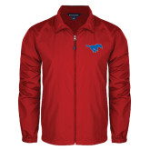 Full Zip Red Wind Jacket-Official Outlined Logo