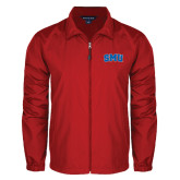 Full Zip Red Wind Jacket-Block SMU