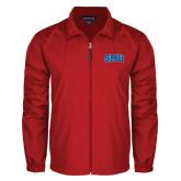 Full Zip Red Wind Jacket-Block SMU