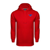 Under Armour Red Performance Sweats Team Hood-Official Outlined Logo