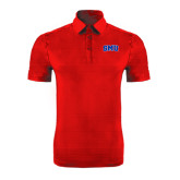 Red Horizontal Textured Polo-Block SMU