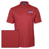 Red Performance Fine Jacquard Polo-2017 American Athletic Conference Champions - SMU Mens Basketball