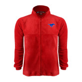 Fleece Full Zip Red Jacket-Official Outlined Logo