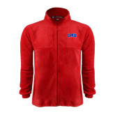 Fleece Full Zip Red Jacket-Block SMU