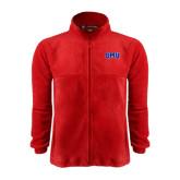 Fleece Full Zip Red Jacket-Block SMU