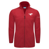 Columbia Full Zip Red Fleece Jacket-Official Logo