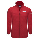 Columbia Full Zip Red Fleece Jacket-2017 American Athletic Conference Champions - SMU Mens Basketball