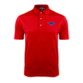 Red Dry Mesh Polo-Official Outlined Logo
