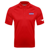 Red Textured Saddle Shoulder Polo-2017 AAC Regular Season Champions Mens Basketball Stacked