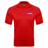 Red Textured Saddle Shoulder Polo-2017 American Athletic Conference Champions - SMU Mens Basketball