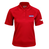 Ladies Red Textured Saddle Shoulder Polo-2017 AAC Regular Season Champions Mens Basketball Stacked
