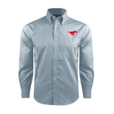 Red House Lt Blue Long Sleeve Shirt-Official Outlined Logo