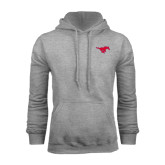 Grey Fleece Hoodie-Official Outlined Logo